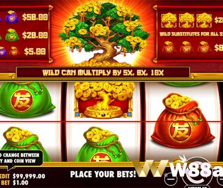 How To Play Tree Of Riches Slot At W88 Bookie